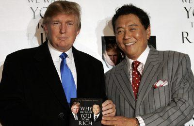 Donald Trump (L) and Robert Kiyosaki